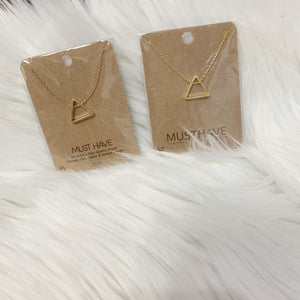 Must Have Triangle Short Necklaces-2 Colors