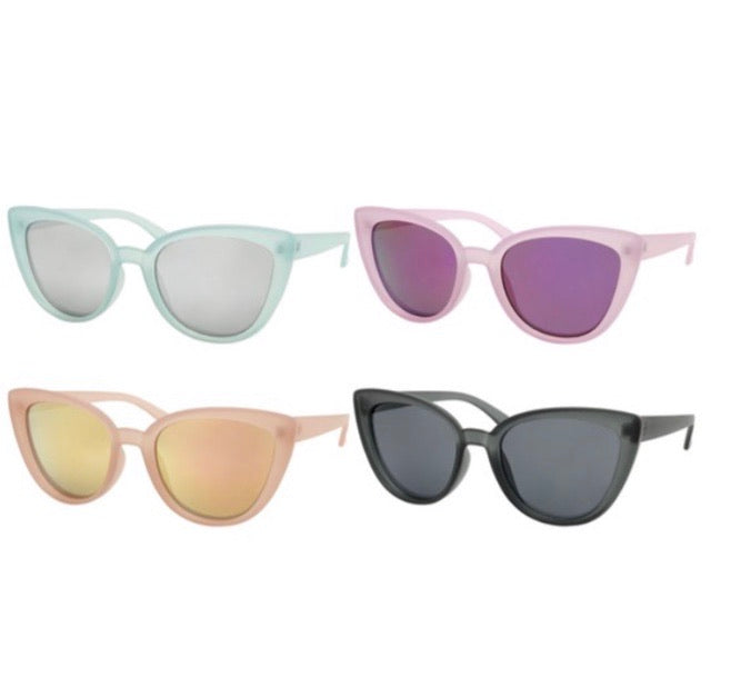 Dazey Shades Cat Eye Sunglasses - 4 Colors Available
