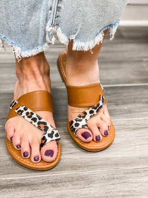 Feeling Strappy Leopard-Brown Sandals