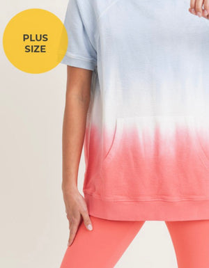 PLUS Cotton Candy Vibes Short Sleeve Sweatshirt