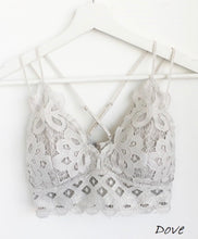 Load image into Gallery viewer, Crochet Lace Bralettes- Multiple Color Options