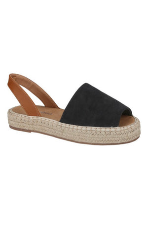 The Slide Into Espadrille Sandal - Black