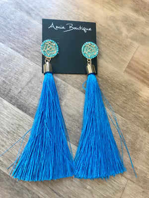 High Tides Fringe Earrings- 2 Colors Available