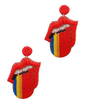 The Rolling Stones Earrings- 2 colors available