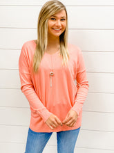 Load image into Gallery viewer, Dreaming For Days Sweater - Coral