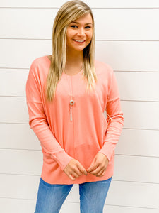Dreaming For Days Sweater - Coral