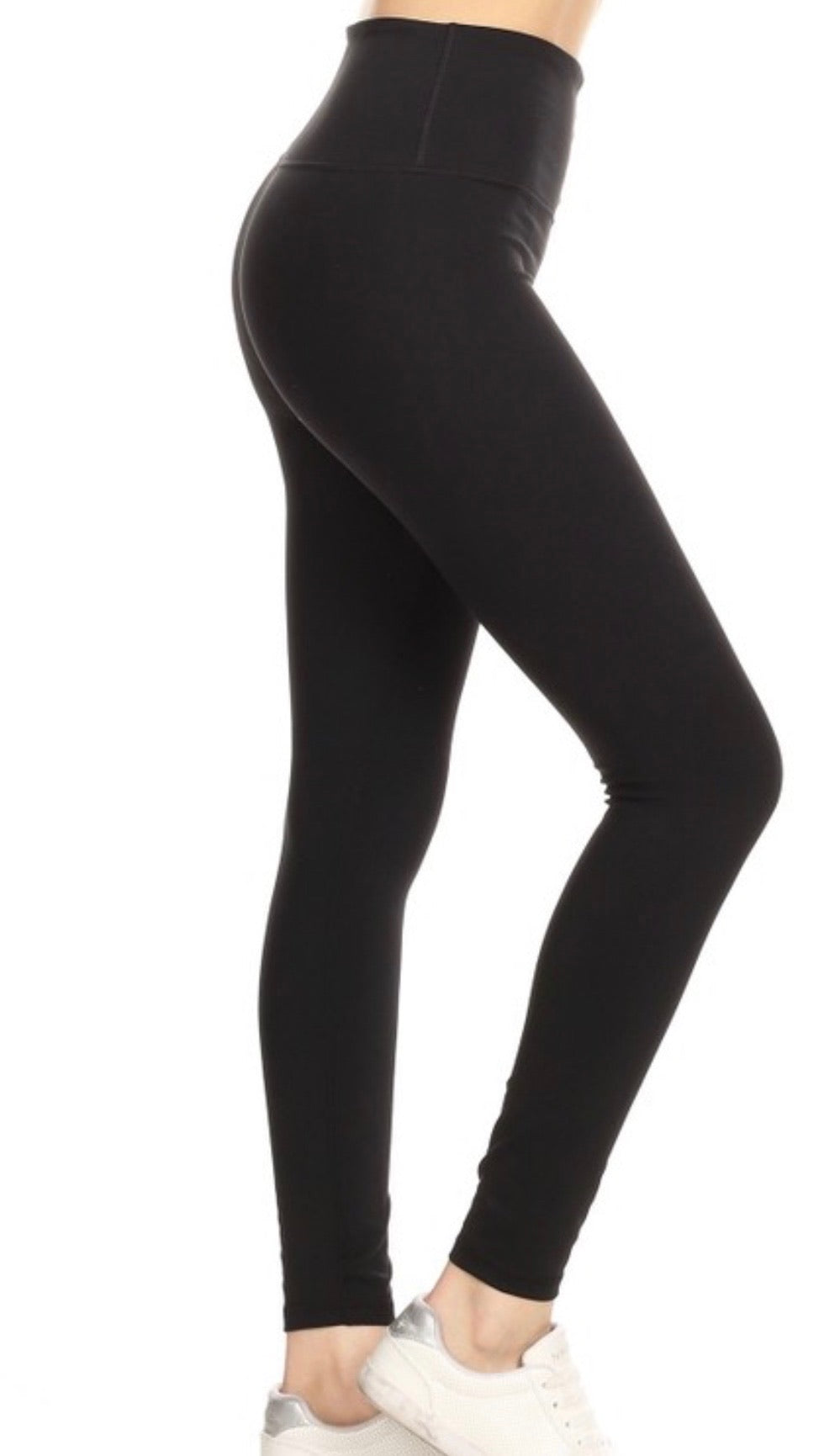 High Waisted High Quality Leggings - Black