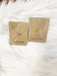 Must Have Feather Short Necklace-2 Colors