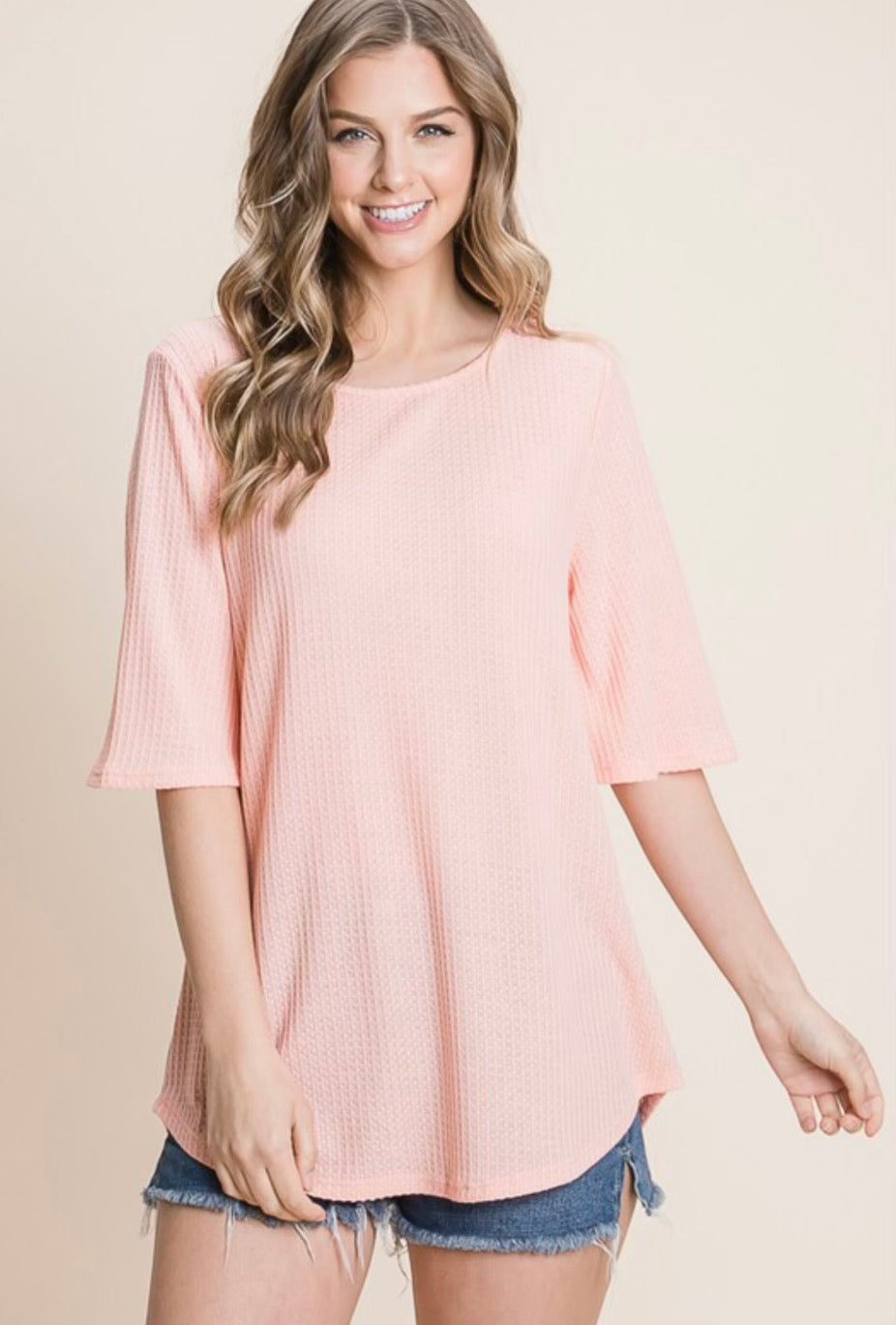 Total Flirt Short Sleeve- Blush