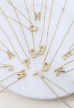 Load image into Gallery viewer, Dainty Letter Necklaces