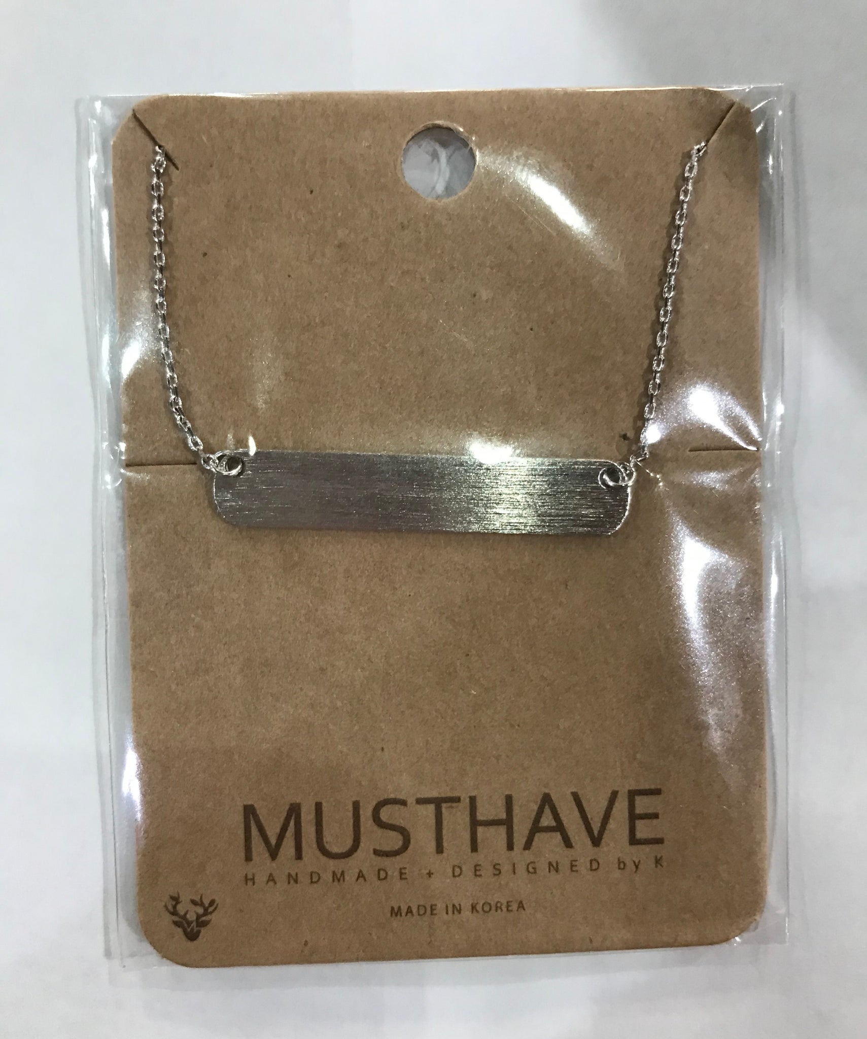Must Have Short Bar Necklaces-3 Colors