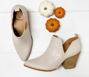 So Chic Booties- Sand