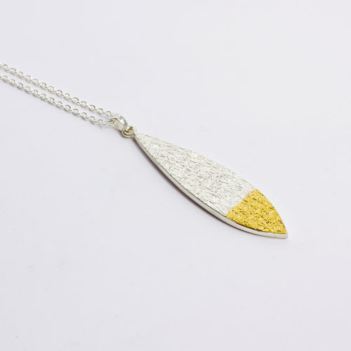 DM: Leaf text-ure pendant