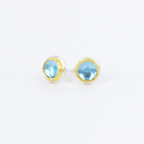 DM584B: Topaz ingot stud earrings