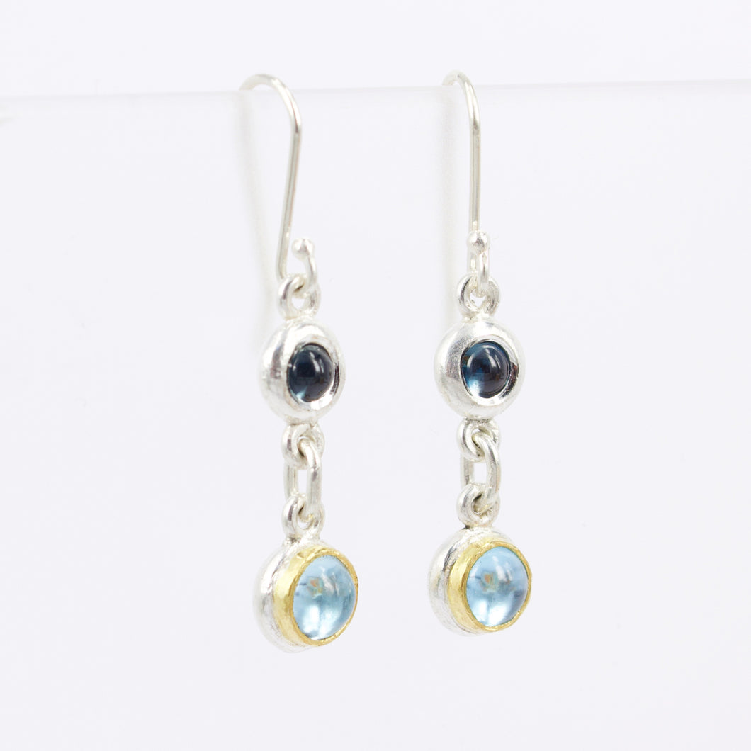DM604B: Double drop topaz earrings