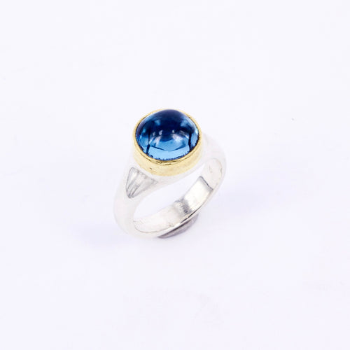 DM668B: Swiss blue topaz ring