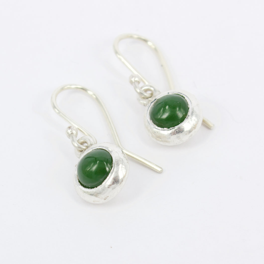 DM599B: Pounamu ingot earrings