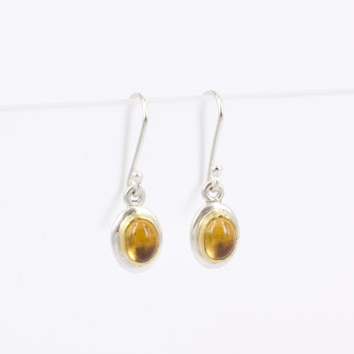 DM628B: Citrine drop earrings