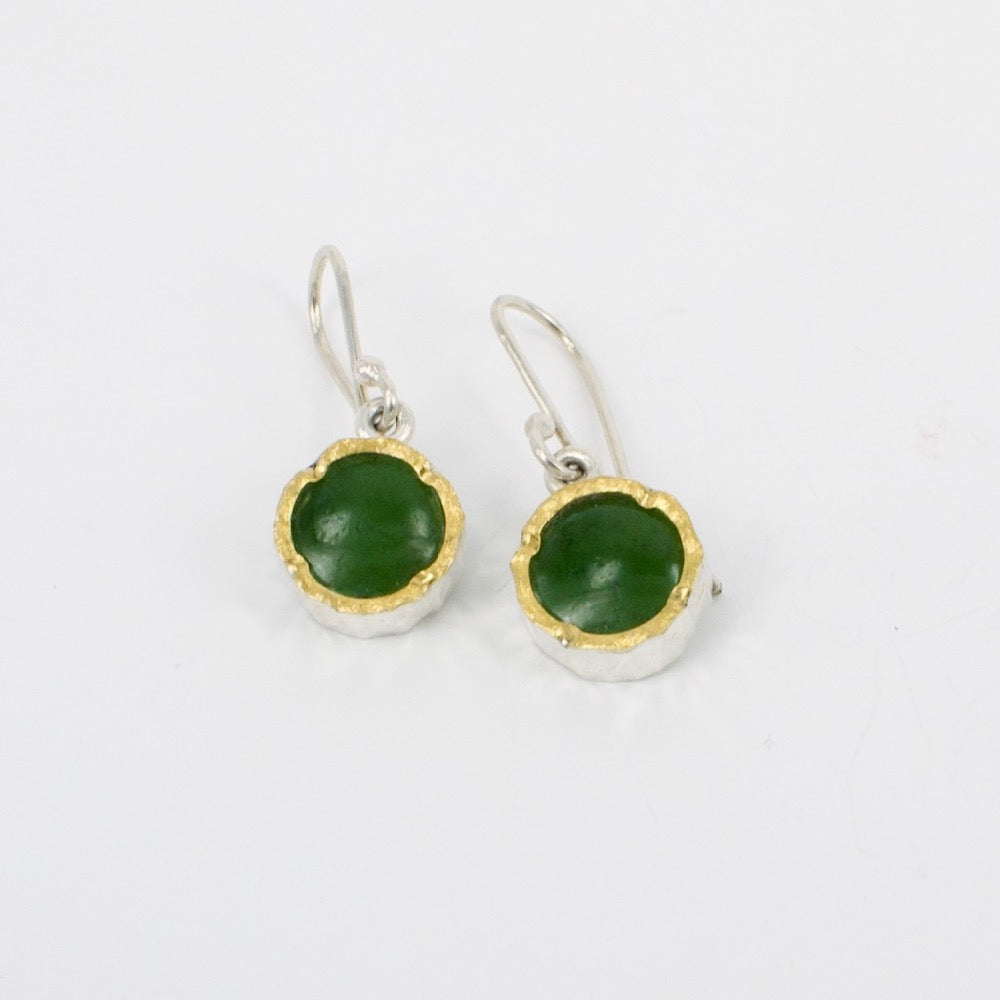 DM: Pounamu gold edge earrings