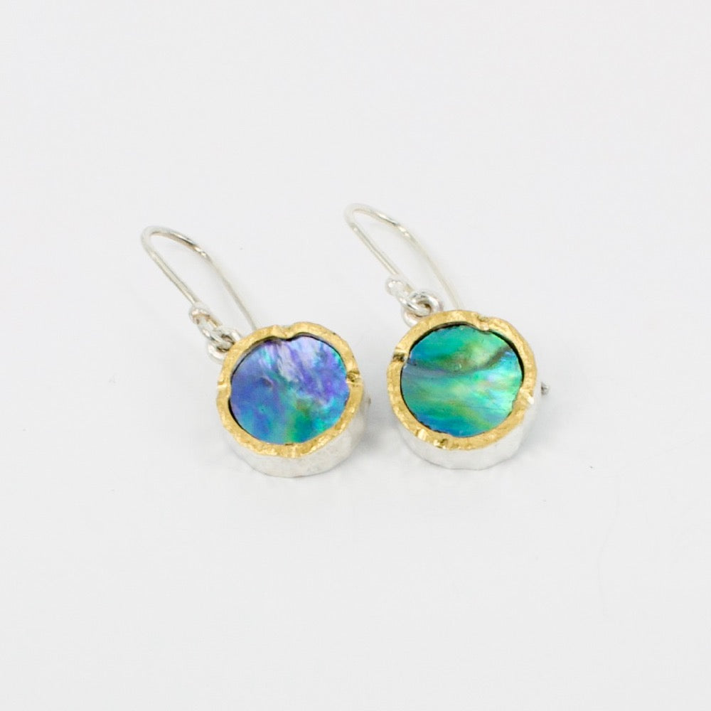 DM: Paua gold edge earrings