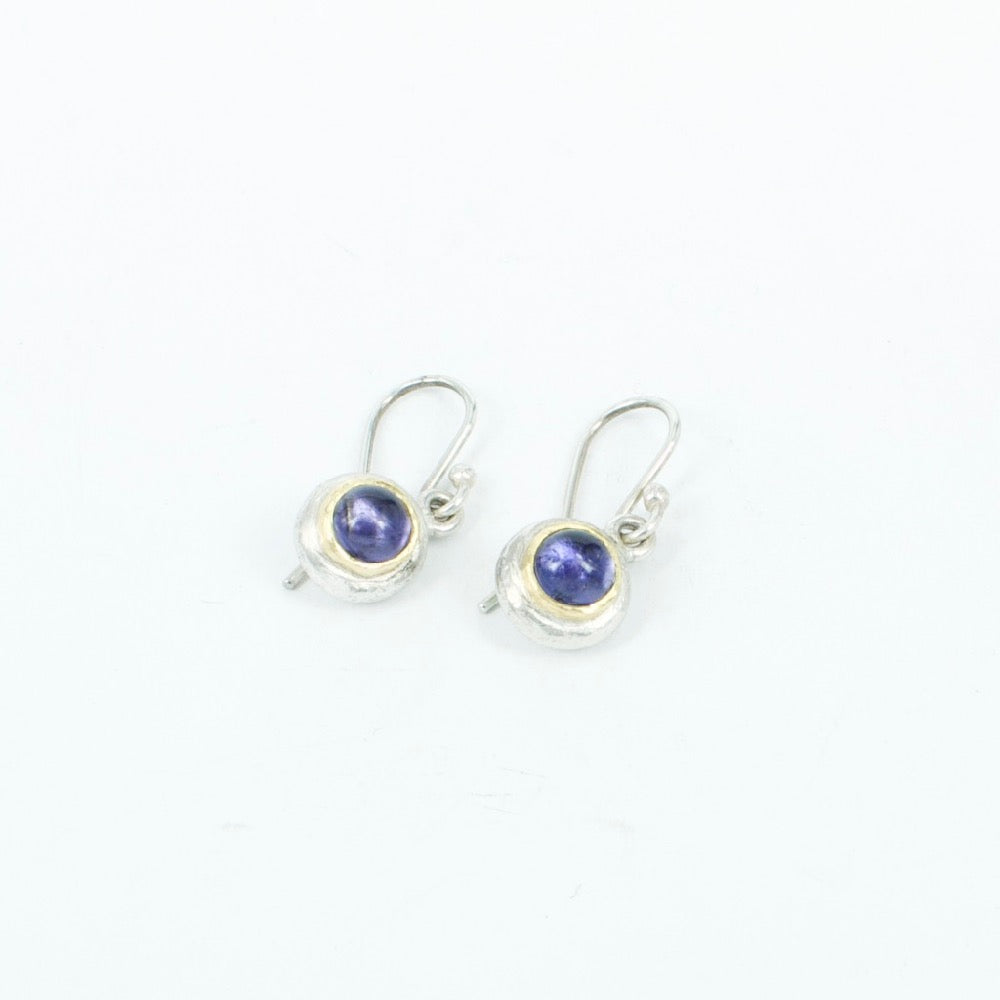 DM: Iolite and 22ct earrings