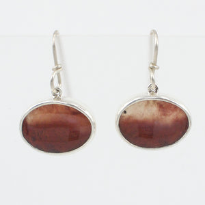 RW202: Mexican flame agate earrings