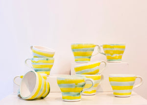 PH: Yellow and green demitasse cups