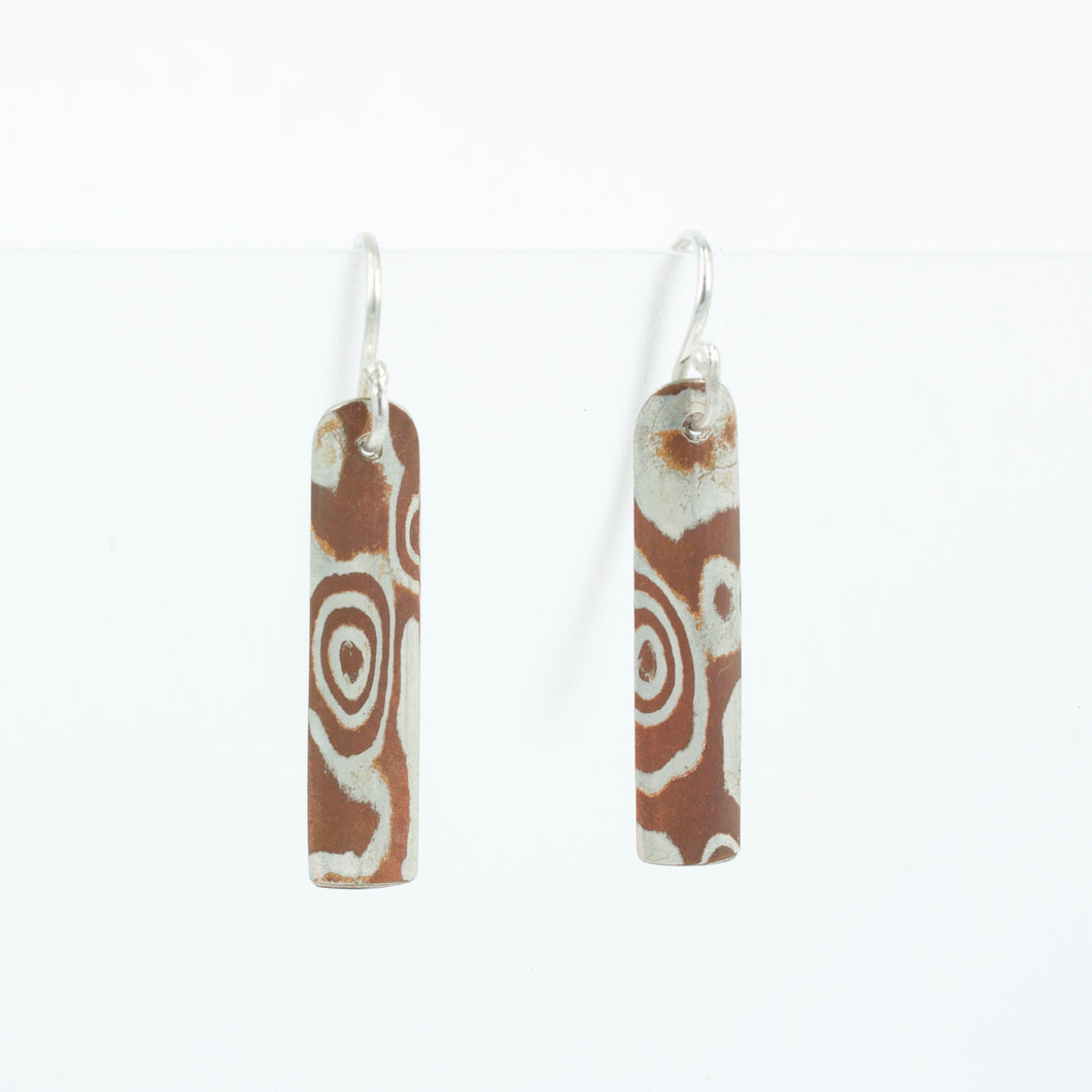 JD12: Mokume gane earrings