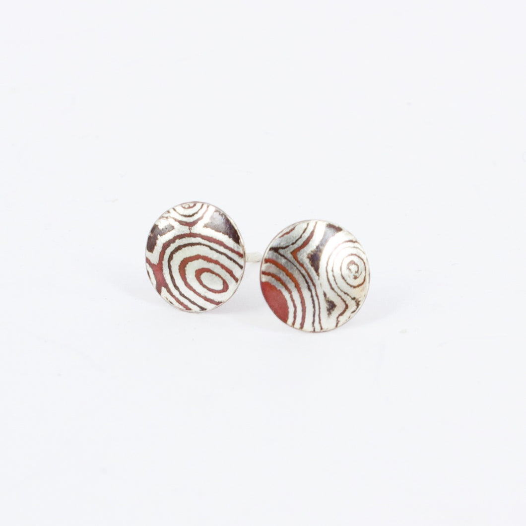 JD28: Mokume gane stud earrings