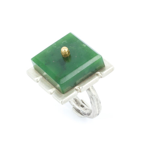 NA43: Square pounamu ring