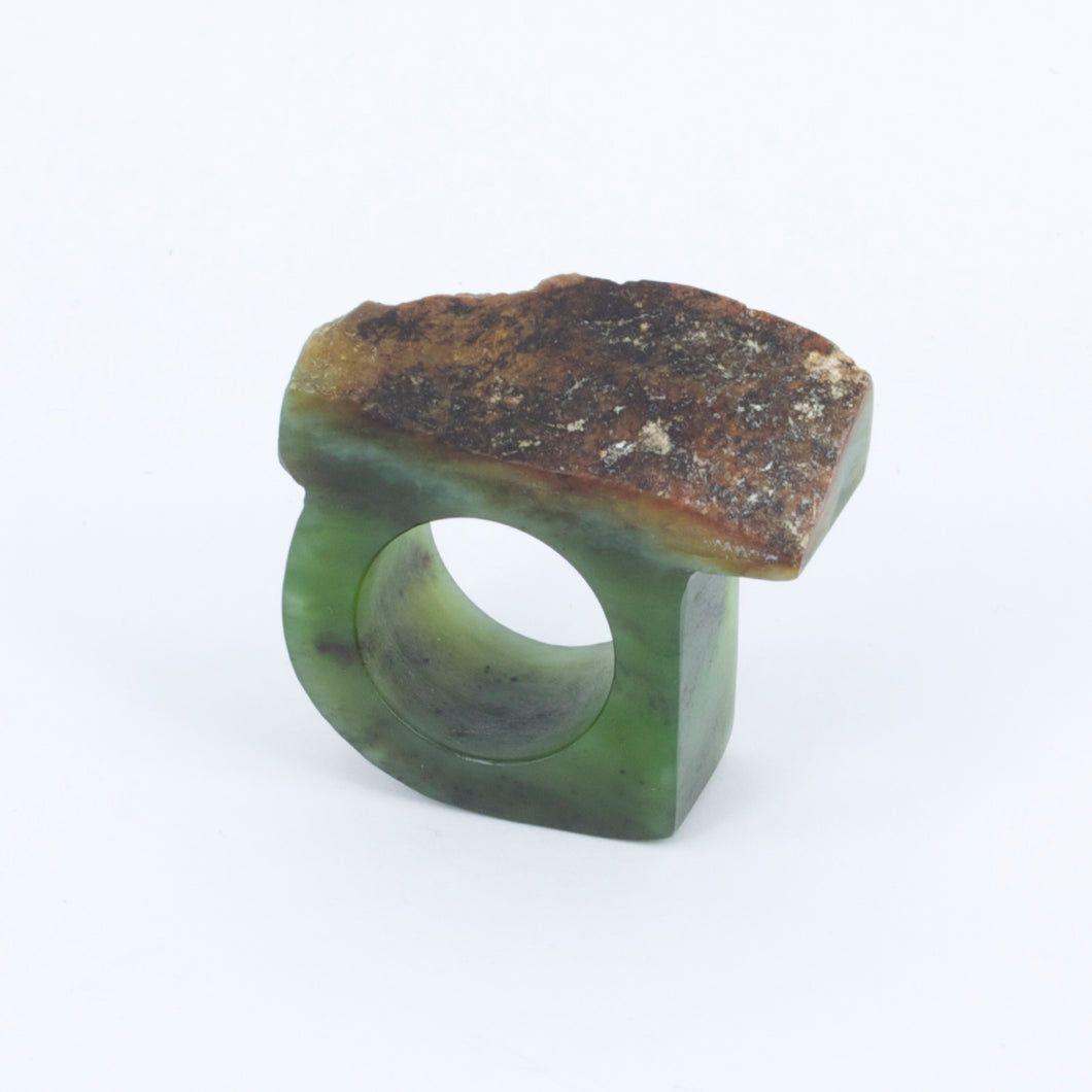 NA54: Pounamu carved ring