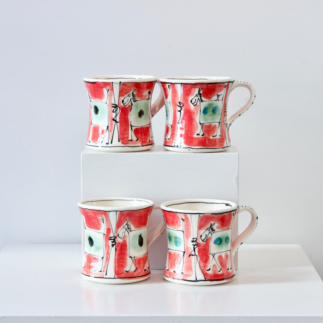 PH: Red Animal mugs