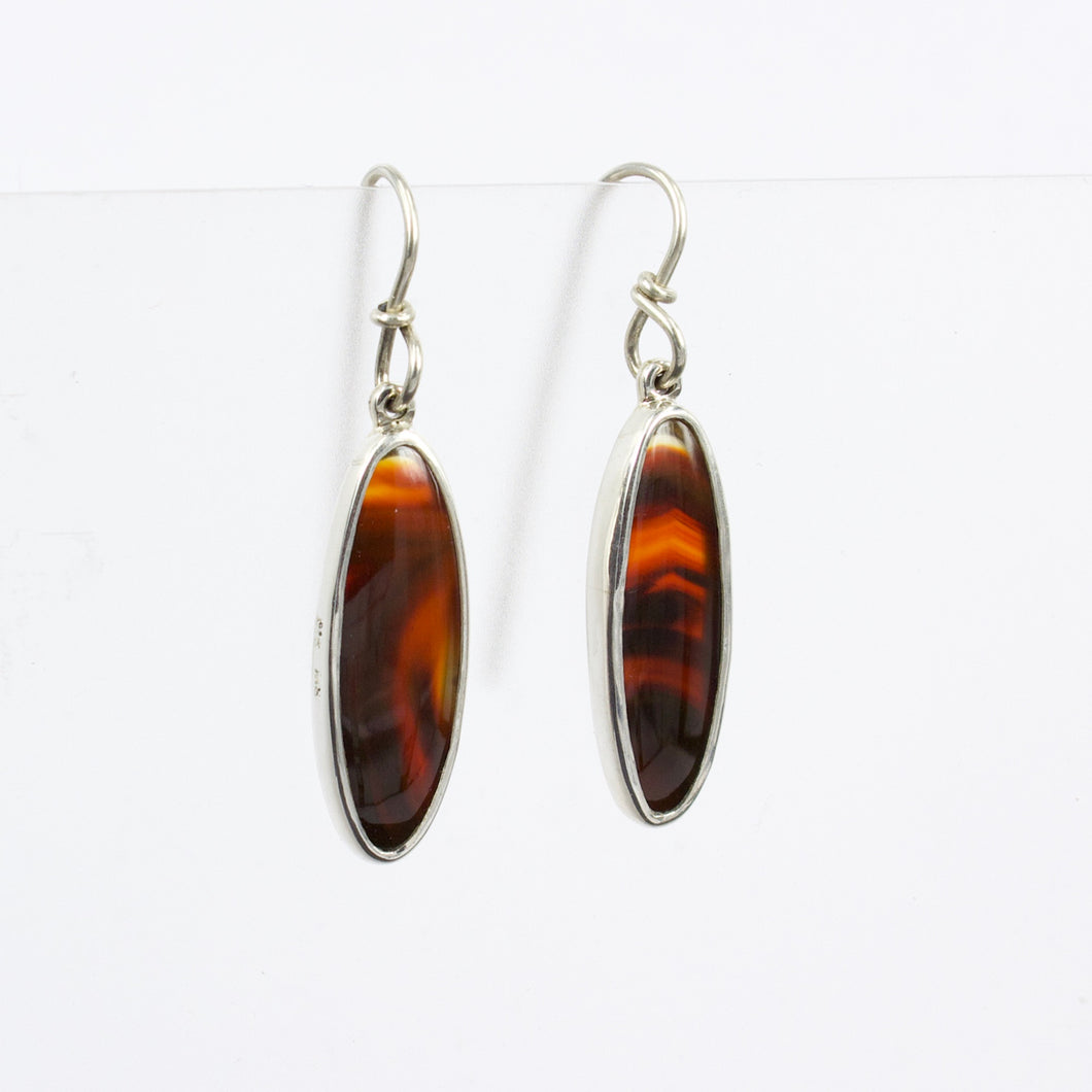 RW239: Condor agate earrings