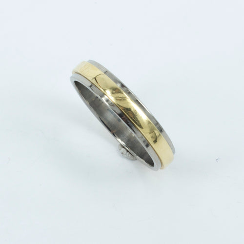TD19: Gold inlay titanium ring