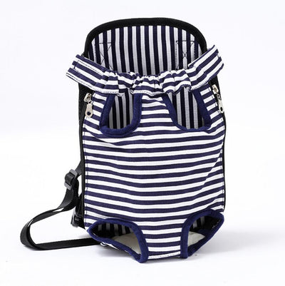 dog carrier backpack for hiking - Color White Stripe