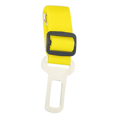 dog seat belt tether - yellow