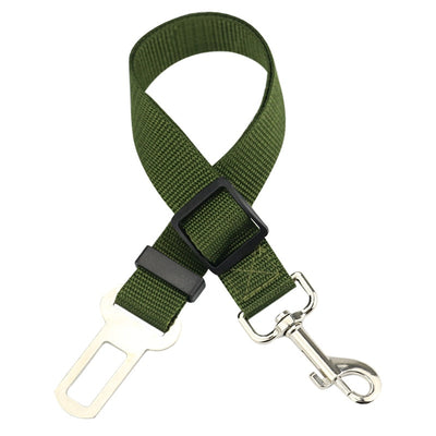 dog seat belt tether - army green
