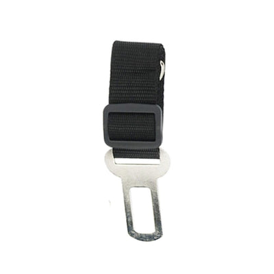 dog seat belt tether - black