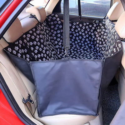 dog seat cover for leather seats - Black Footprint 2