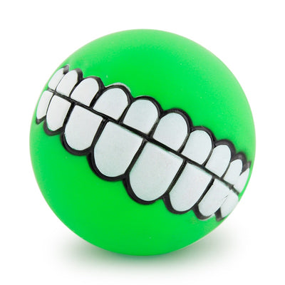 grinz dog ball teeth - green