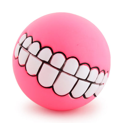 grinz dog ball teeth - pink