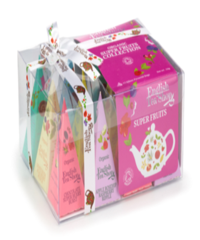 English Tea Shop Gift Pack Pink Prisms 12 Pyramid Tea Bags