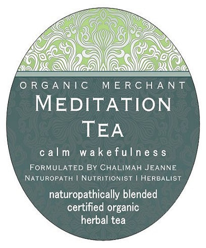 Organic Merchant Meditation Tea Jar 45g
