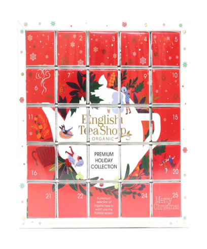 English Tea Shop Organic Red Advent Calendar Puzzle 50g