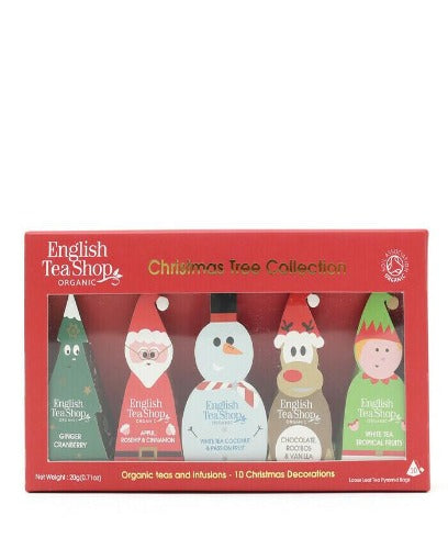 English Tea Shop Organic Christmas Characters Pyramid Teabags 20g