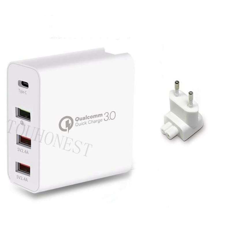 3.0 Quick Charger US EU UK Plug Adapter - theprimelabel