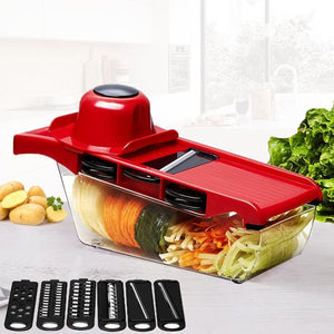 Mandoline Slicer Vegetable Cutter with 6 Stainless Steel Blade - theprimelabel