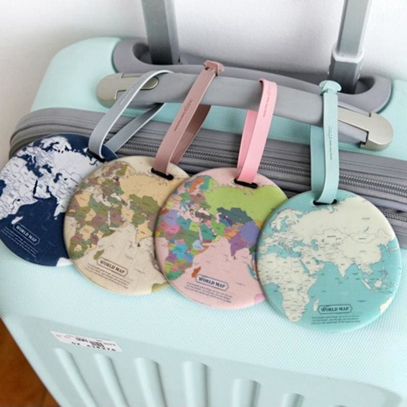 Map Luggage Tag Travel Accessories - theprimelabel