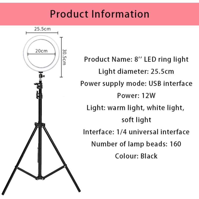 Photography LED Selfie Ring Light & Tripod Stand - theprimelabel