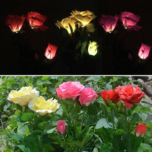 Solar Powered LED Rose Stake - theprimelabel